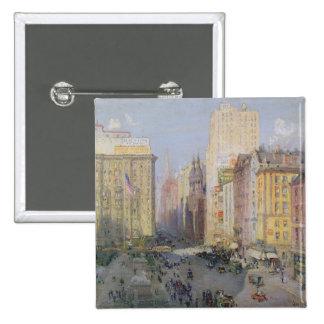 Fifth Avenue, New York, 1913 15 Cm Square Badge