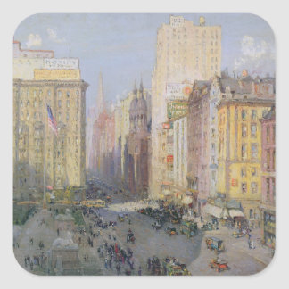 Fifth Avenue, New York, 1913 Square Sticker