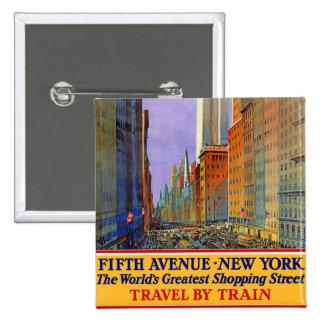 Fifth Avenue - New York Button