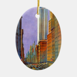 Fifth Avenue, New York Ceramic Oval Decoration