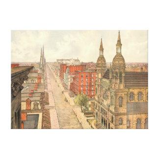 Fifth Avenue New York City 1879 Canvas Prints