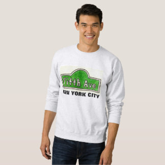Fifth Avenue New York City Street Sign Sweatshirt