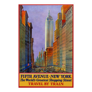 Fifth Avenue New York Poster