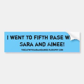 Fifth base sticker take 2 bumper sticker