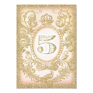 Fifth Birthday Once Upon a Time Princess 13 Cm X 18 Cm Invitation Card
