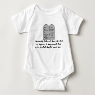 Fifth Commandment Infant Outfit Jewish Baby Baby Bodysuit