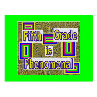 Fifth grade phenomenal with white behind letters post cards