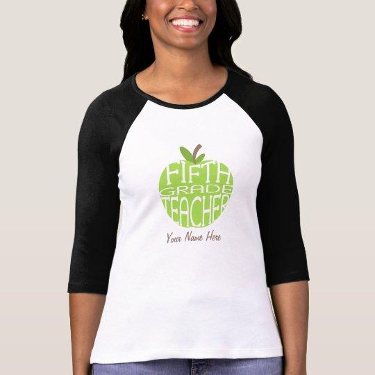 Fifth Grade Teacher - Green Apple T-Shirt