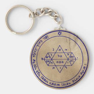 Fifth Pentacle of Jupiter Basic Round Button Key Ring
