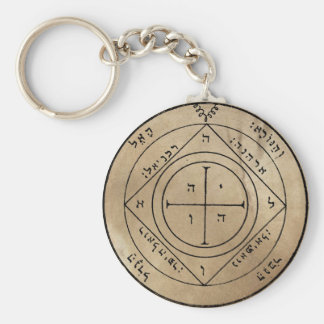 Fifth Pentacle of Saturn Keychain
