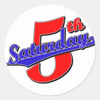 Fifth Saturday Round Sticker