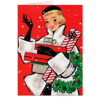 Fifties Christmas Shopper Card