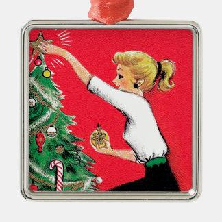 Fifties Christmas Tree Trimmer Christmas Ornament
