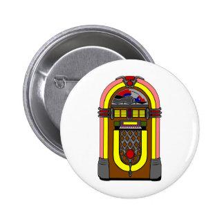 Fifties Jukebox 6 Cm Round Badge