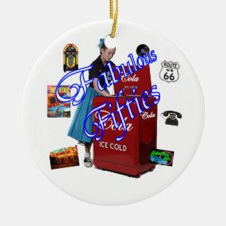 Fifties Memorbilia icons Christmas Ornament