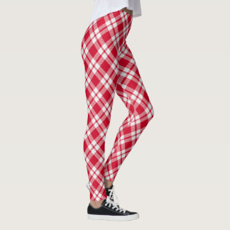 Fifties Plaids ~ Red & White Leggings