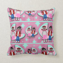 Fifties Sock Monkey Madness Cushion
