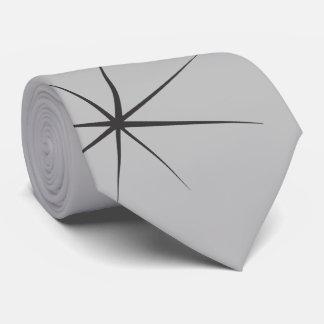 Fifties Stars in Black on Gray Tie