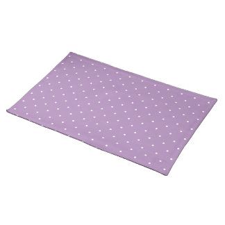 Fifties Style African Violet Purple Polka Dot Place Mat