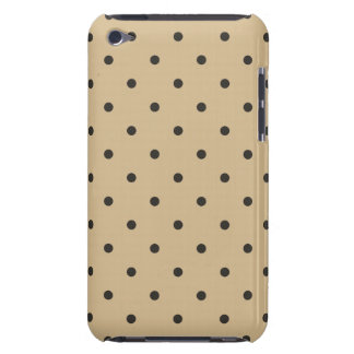 Fifties Style Beige Polka Dot Barely There iPod Cases