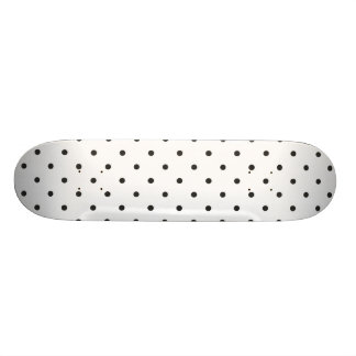 Fifties Style Black and White Polka Dot Custom Skate Board
