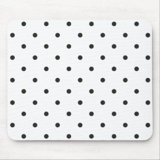 Fifties Style Black and White Polka Dot Mouse Mat