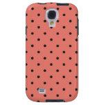 Fifties Style Coral Polka Dot