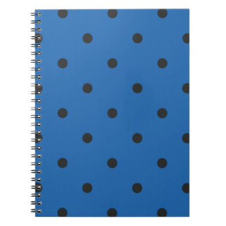 Fifties Style Dazzling Blue Polka Dot Spiral Note Book
