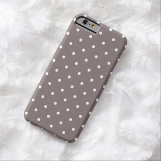 Fifties Style Driftwood Polka Dot iPhone 6 case Barely There iPhone 6 Case