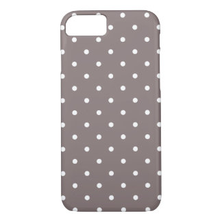 Fifties Style Driftwood Polka Dot iPhone 7 case