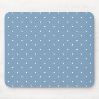 Fifties Style Dusk Blue Polka Dot Mouse Pad