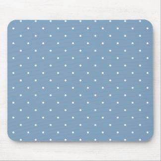 Fifties Style Dusk Blue Polka Dot Mouse Pads