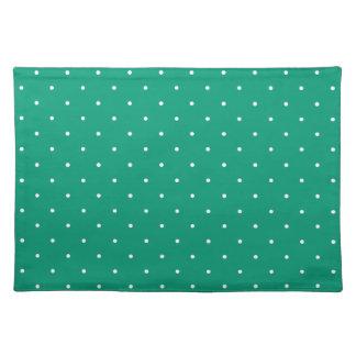 Fifties Style e Emerald Green Polka Dot Place Mat