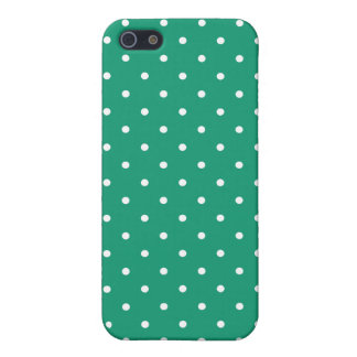 Fifties Style Emerald Green Polka Dot iPhone5 Case iPhone 5/5S Case