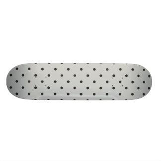 Fifties Style Gray Polka Dot 18.1 Cm Old School Skateboard Deck