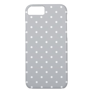 Fifties Style Gray Polka Dot iPhone 7 case