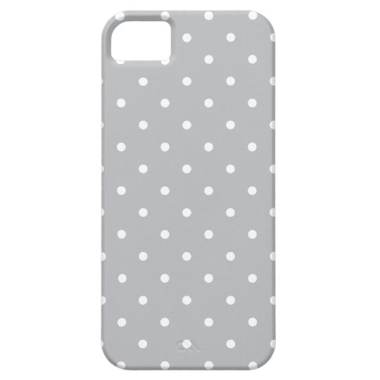 Fifties Style Grey Polka Dot iPhone 5/5S Case