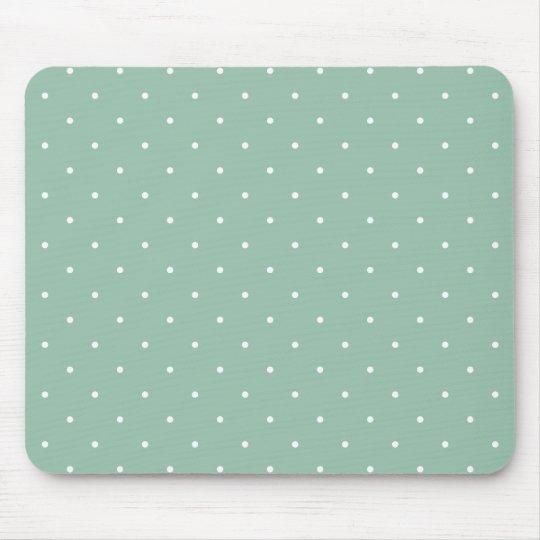 Fifties Style Greyed Jade Green Polka Dot Mouse