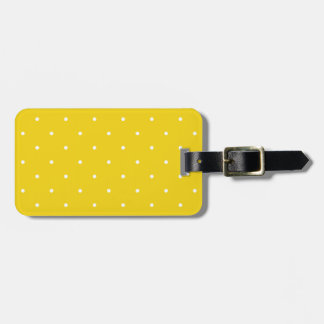 Fifties Style Lemon Yellow Polka Dot Luggage Tag
