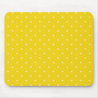 Fifties Style Lemon Yellow Polka Dot Mouse Mat