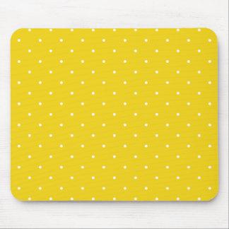 Fifties Style Lemon Yellow Polka Dot Mousepad