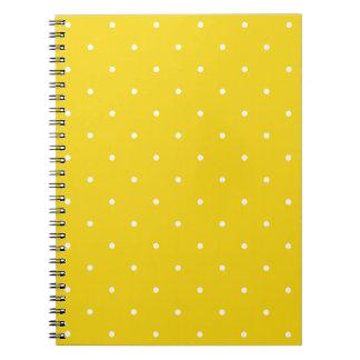 Fifties Style Lemon Yellow Polka Dot Notepad Notebook