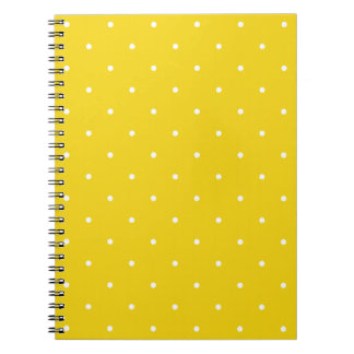 Fifties Style Lemon Yellow Polka Dot Notepad Notebooks