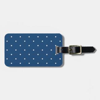 Fifties Style Monaco Blue Polka Dot Luggage Tag
