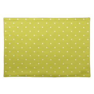 Fifties Style Olive Green Polka Dot Placemat