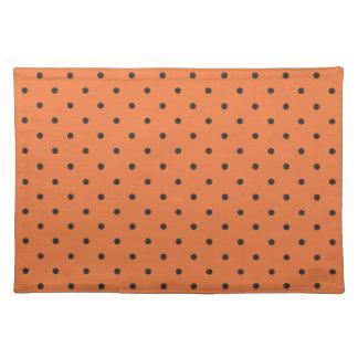 Fifties Style Orange Polka Dot Placemats