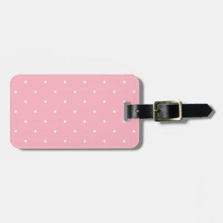 Fifties Style Pink Polka Dot Bag Tag