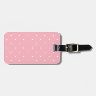 Fifties Style Pink Polka Dot Luggage Tag