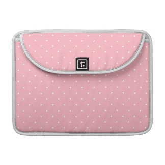 Fifties Style Pink Polka Dot Sleeve For MacBooks