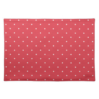 Fifties Style Poppy Red Polka Dot Placemat